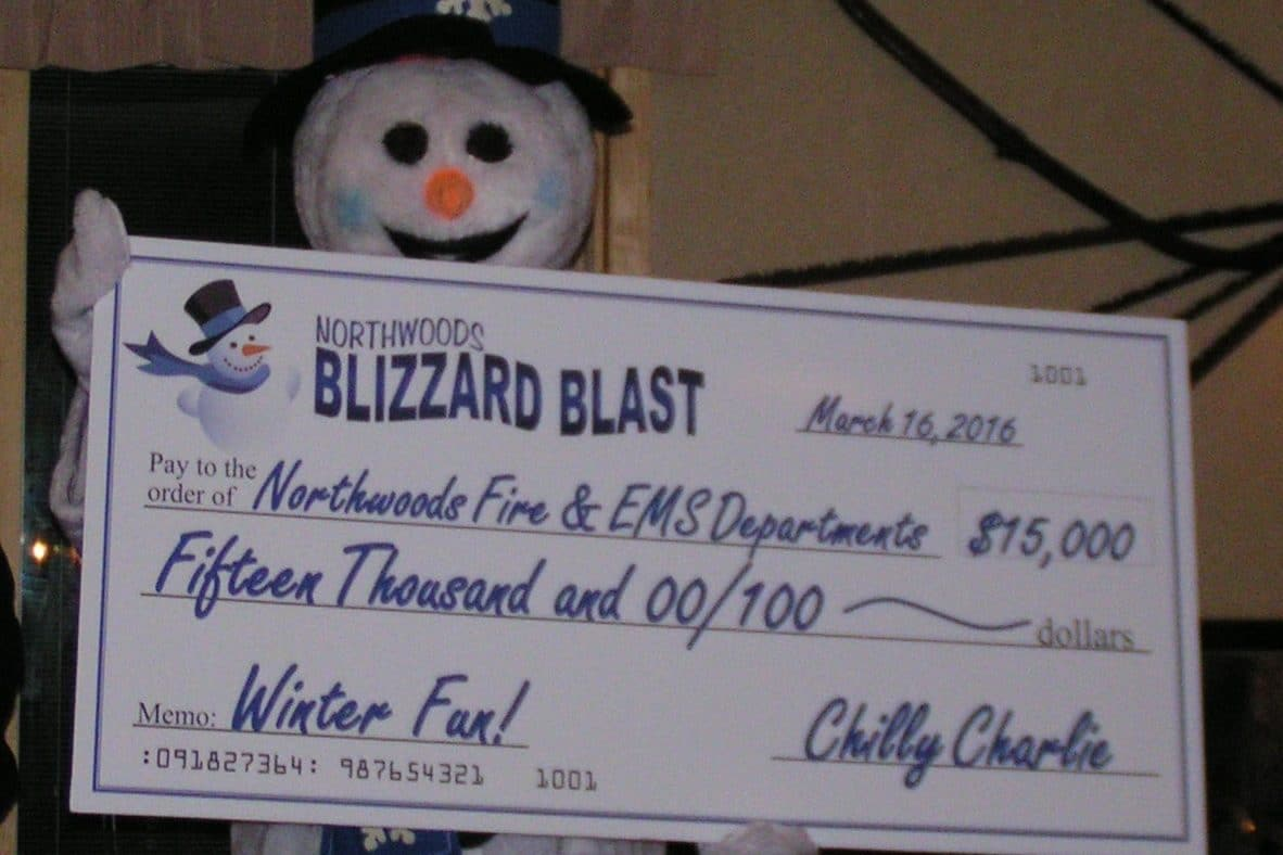 Northwoods Blizzard Blast Supports Local Fire & EMS Departments