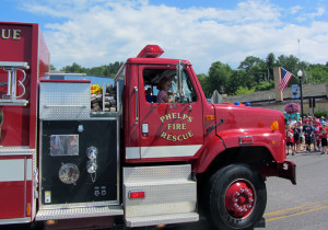 Phelps Wisconsin Fire Rescue at a Local Parade