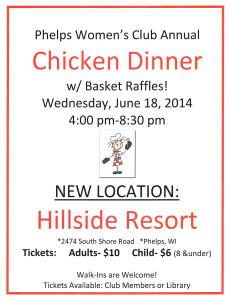 Phelps Women's Club Chicken Dinner