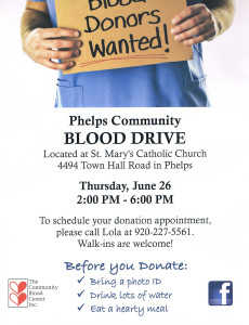 Phelps Community Blood Drive
