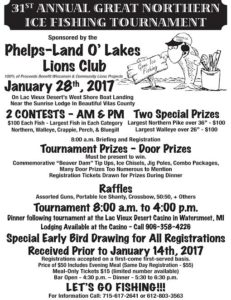 Lions Club Ice Fishing Tournament