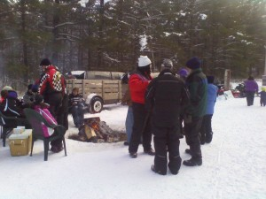 Fun Snowmobile Gathering in Phelps