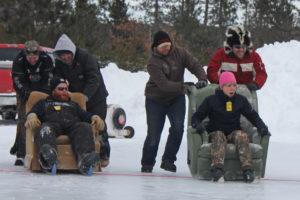 Recliner Racing Winter Fun