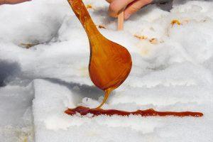 Maple Taffy on the Snow